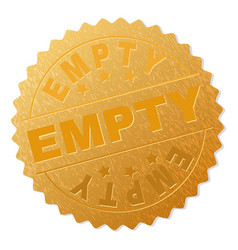 gold empty medal stamp vector image