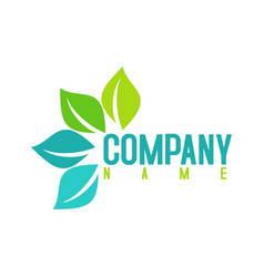 green leaf logo design vector image