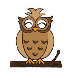 Happy cute owl icon imag vector