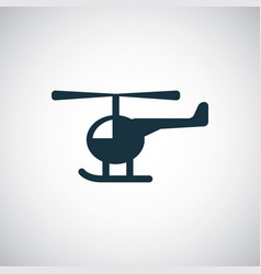 helicopter icon simple flat element concept design vector image