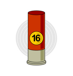 hunting weapon cartridge ammunition bullet vector image
