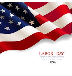Labor day flag usa vector