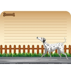 Line paper design with dog walking vector