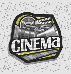 logo for cinema vector image