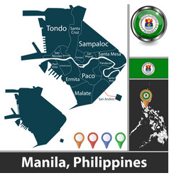 Map manila philippines vector
