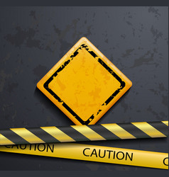 metal warning sign vector image