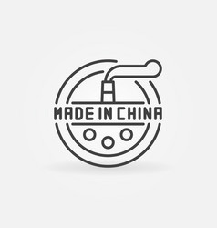 Minimal made in china icon vector