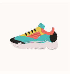 Modern sneakers isolated on white ranning shoe vector