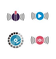 music logo design vector image