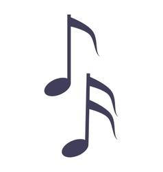 Musical note melody symbol vector