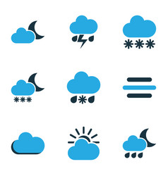 nature colored icons set collection of moonshine vector image