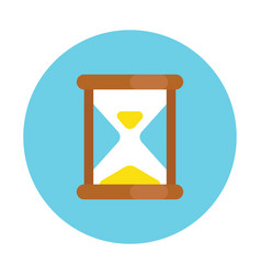 old hourglass icon simple flat style sandglass vector image
