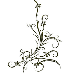 Ornamental floral corner for your vector