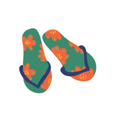 Pair flip flops summer travel symbol vector
