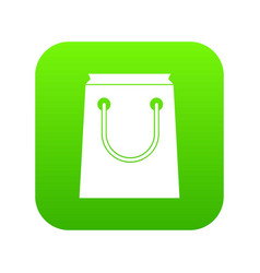 paper bag icon digital green vector image