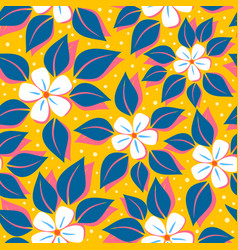 Pattern with tropical flowers vector