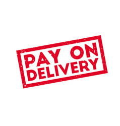 pay on delivery rubber stamp vector image