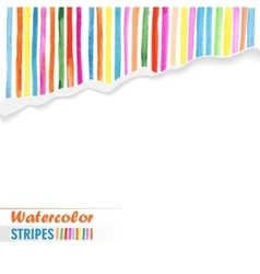 postcard template with bright colored stripes vector image