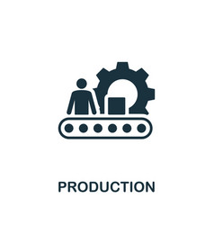 production icon symbol creative sign from vector image