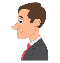 Profile of a businessman 2 vector image