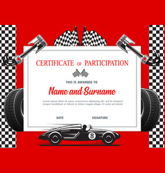 Race participation diploma certificate template vector