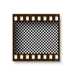 Realistic retro frame 35 mm filmstrip vector