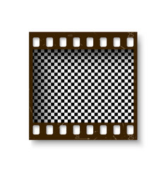 Realistic retro frame of 35 mm filmstrip with vector