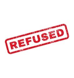 Refused Rubber Stamp vector image