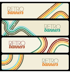 Retro Banners vector image vector image