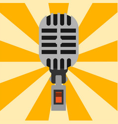Retro microphone type icon journalist vector