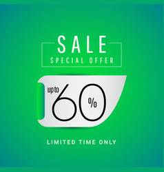 Sale special offer up to 60 limited time only vector