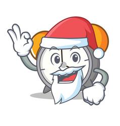 Santa alarm clock mascot cartoon vector