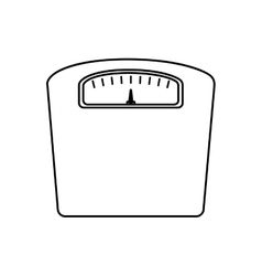 Scale fitness healthy lifestyle icon vector
