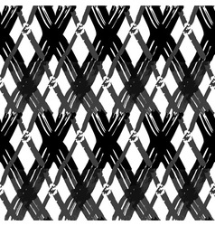 Seamless brush pen hand drawn doodle pattern vector image