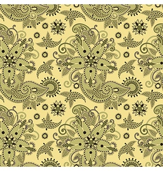 seamless flower paisley design vector image