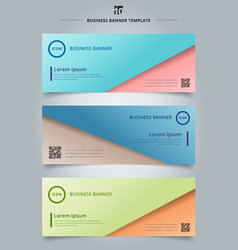 set of banner web abstract presentation template vector image