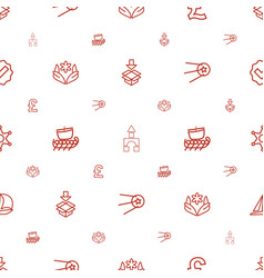 Shape icons pattern seamless white background vector