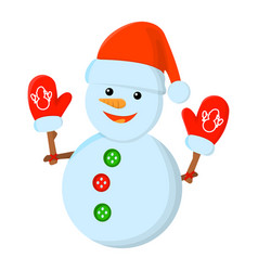 snowman xmas isolated icon cartoon style for vector image