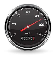 Speedometer black car dashboard gauge vector