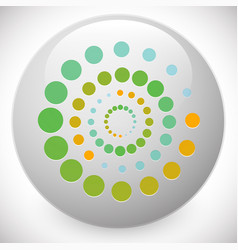 Spiral icon - harmony cycle spirituality vector