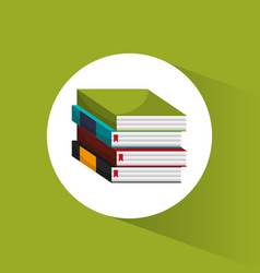 Stack book school utensils icon vector