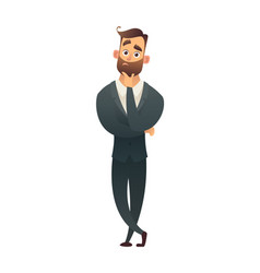 successful beard businessman character have vector image