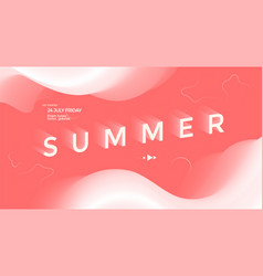 summer typography poster with fades shapes vector image