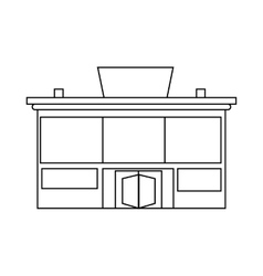 Supermarket building icon outline style vector image