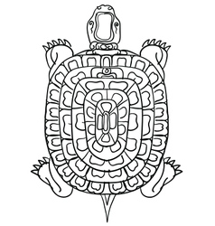 Thai yantrathai traditional tattooturtle vector