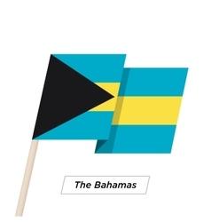 The Bahamas Ribbon Waving Flag Isolated on White vector image
