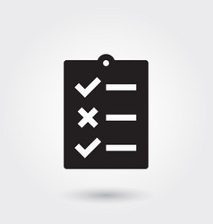 to do list glyph icon for any purposes perfect vector image