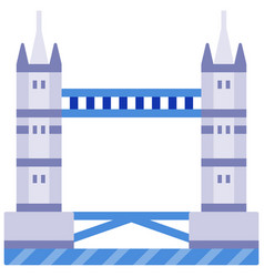 tower bridge flat vector image