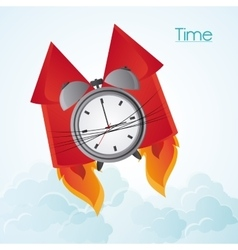 Traditional clock and fireworks design vector