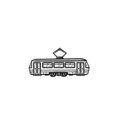 Tram hand drawn outline doodle icon vector